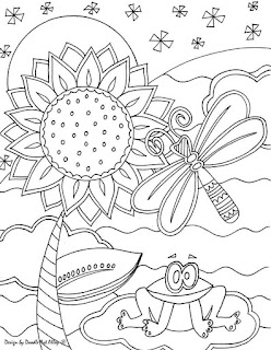 Insect On Garden Coloring Pages For Kids
