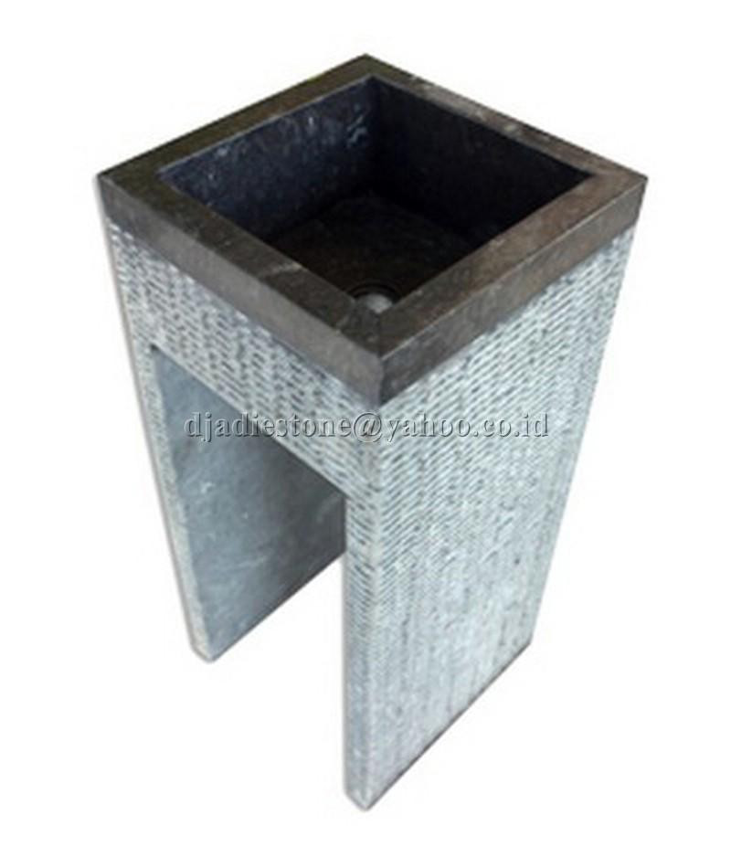 square pedestal sp le waschbecken marmor indonesia natural stone. Black Bedroom Furniture Sets. Home Design Ideas