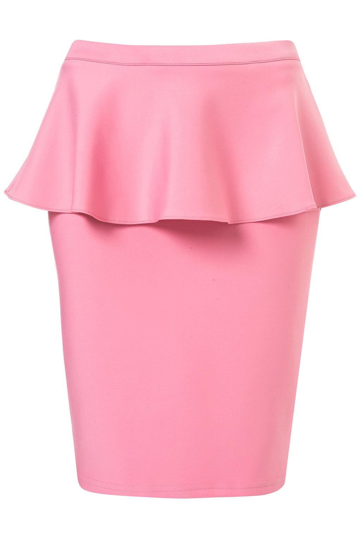0ca3ab3796 La hemos visto mucho durante el verano y seguirá de moda este otoño. Estos  son unos cuantos modelos de falda y vestidos Peplum para elegir.