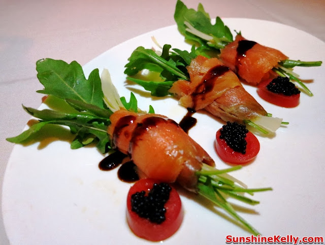 KL Restaurant Week, OPUS Bistro @ Bangkung, bangsar, Food Review, Italian food, cuisine, Salmon Roll with Rocket Salad, appetizer, starter