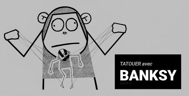 banksy et olivier poinsignon marionnette tattoo attack