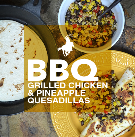 BBQ Grilled Chicken & Pineapple Quesadillas