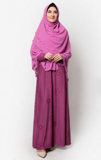 jubah muslimah warna ungu cantik