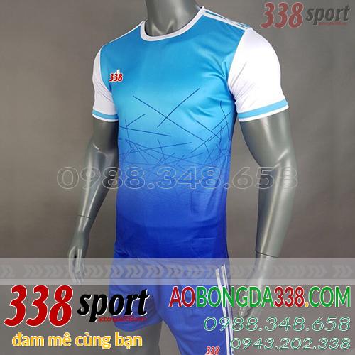 áo không logo adidas aro xanh dương