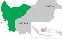 Peta lokasi Kalimantan Barat