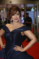 Payal Ghosh aka Harika in Dark Blue Deep Neck Sleeveless Gown at 64th Jio Filmfare Awards South 2017 ~  Exclusive 129.JPG