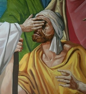 Resultado de imagen para Vio, al pasar, a un hombre ciego de nacimiento