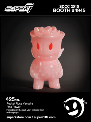 "San Diego Comic-Con 2015 Exclusive ""Pink Power"" Glow in the Dark Pocket Rose Vampire Vinyl Figure by Super7"