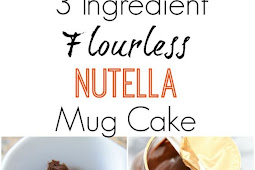 3 INGREDIENT FLOURLESS NUTELLA MUG CAKE