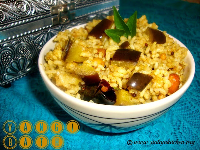 images of Vangi Bath Recipe / Vaangi Baath Recipe / Vangi Bhath Recipe / Brinjal Rice Recipe