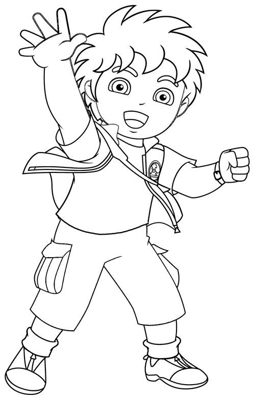 diego coloring pages for kids >> disney coloring pages
