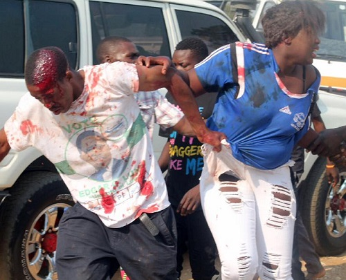 Crazy Female Football Fan broke A Man's Head During A Match And She Got What Never bargained For; See Photos