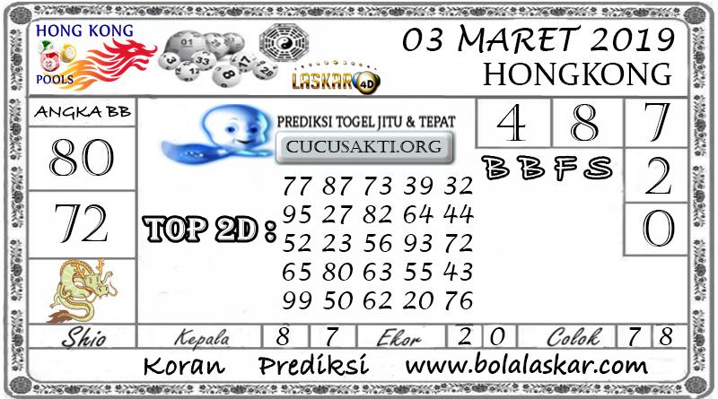 Prediksi Togel HONGKONG LASKAR4D 03 MARET 2019