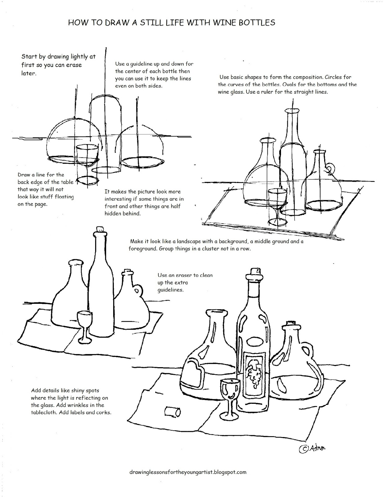How To Draw Worksheets For The Young Artist Printable How