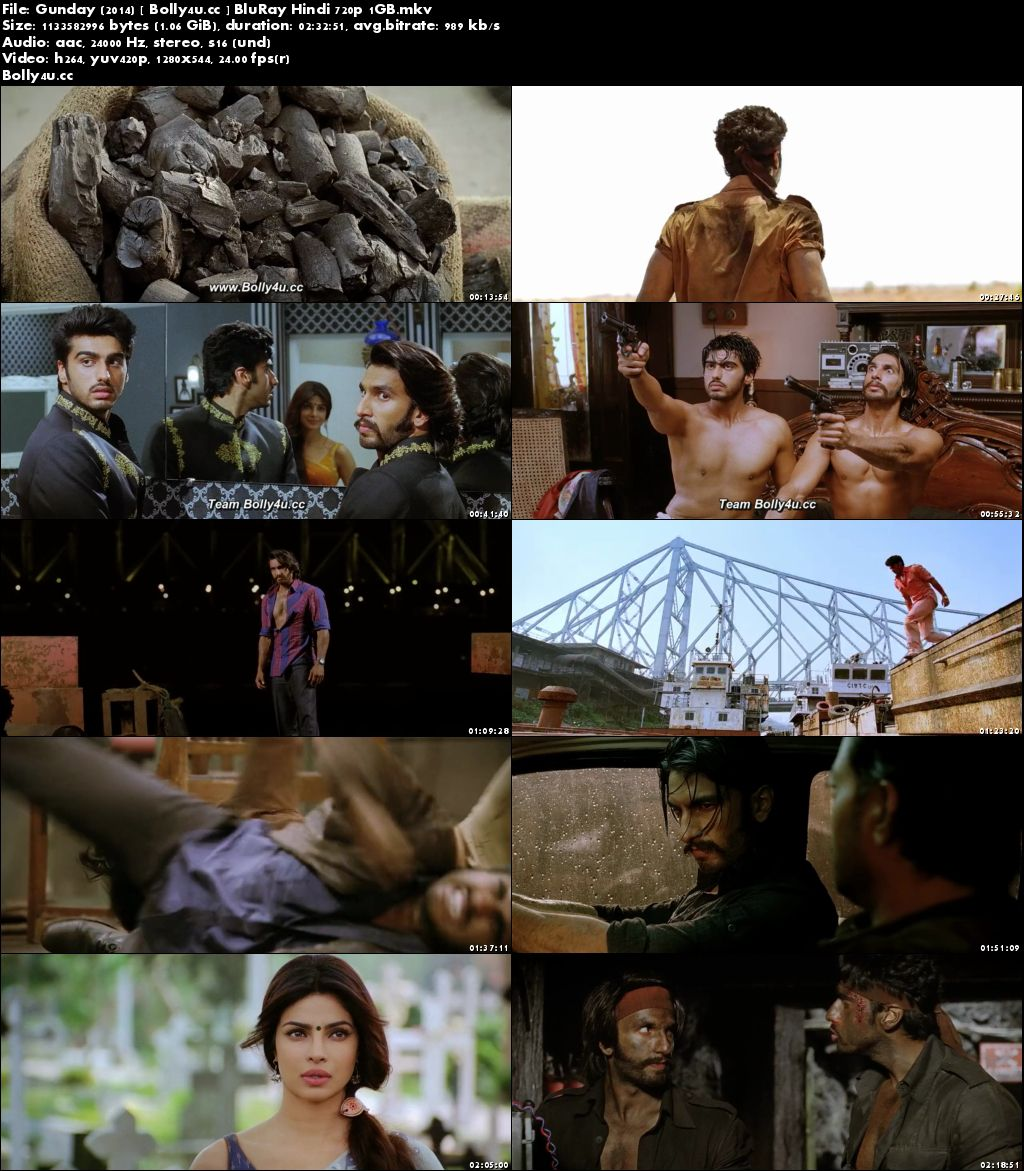 Gunday 2014 BluRay 400MB Full Hindi Movie Download 480p