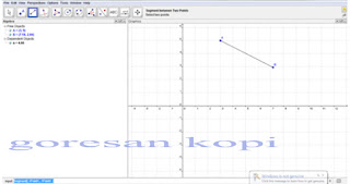membuat garis dari 2 titik yang di ketahui