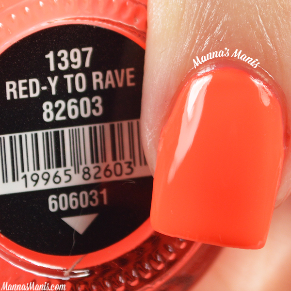China Glaze Electric Nights Red-y to Rave swatches