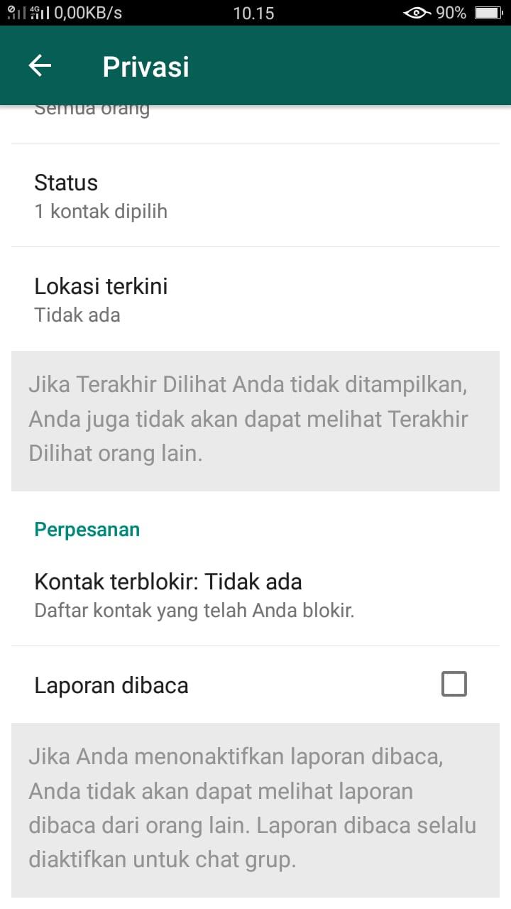 Cara membuat whatsapp terlihat tidak aktif