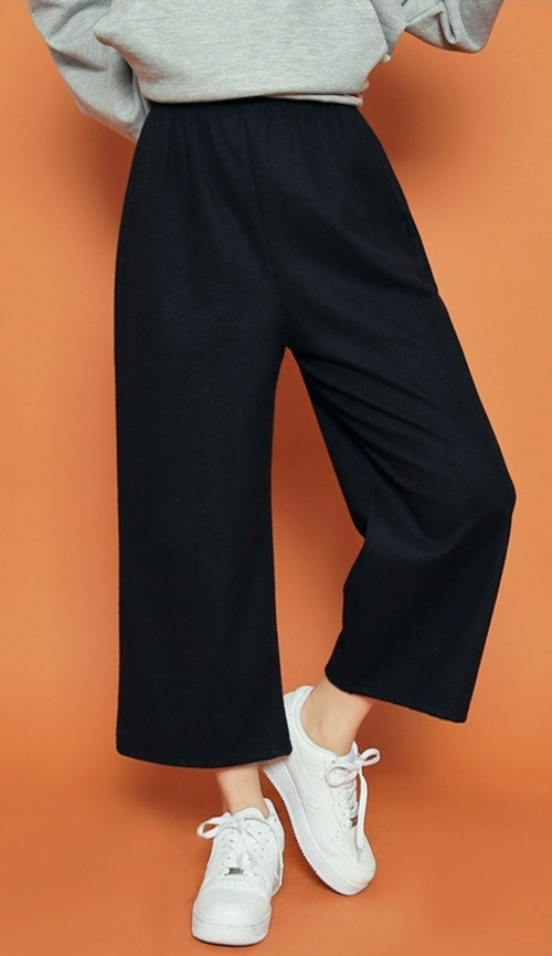 Garterized Waist High Rise Pants