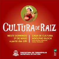 Cultura de Raiz e Música na Matriz no domingo, 1º de maio