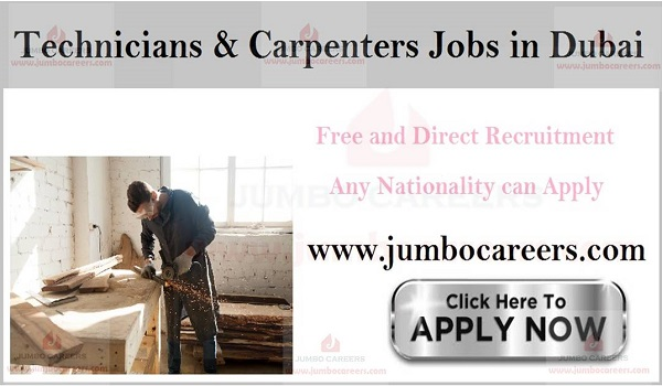 Maintenance jobs in Dubai, Latest walk in interview jobs win Dubai,