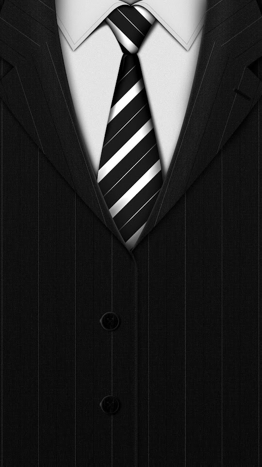 Black Striped Suit   Galaxy Note HD Wallpaper