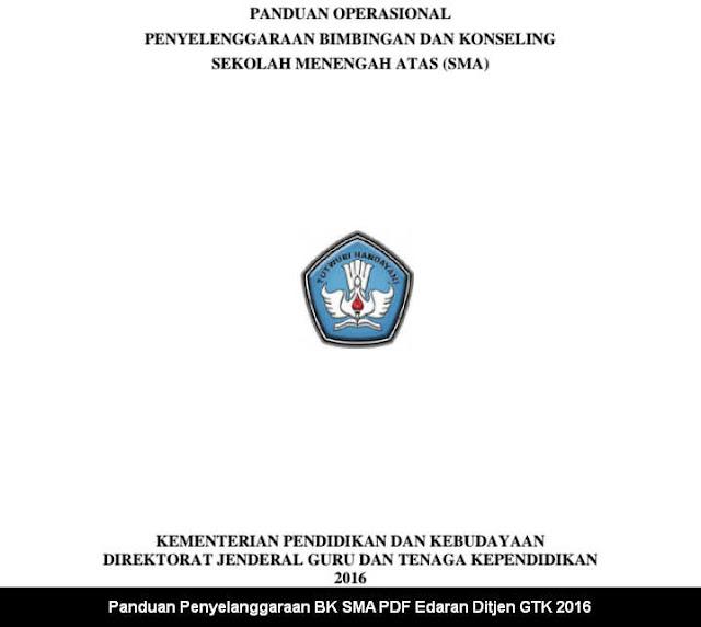 Panduan Penyelanggaraan BK SMA PDF Edaran Ditjen GTK 2016