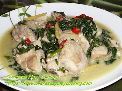 Chicken in Coconut Milk with Spinach