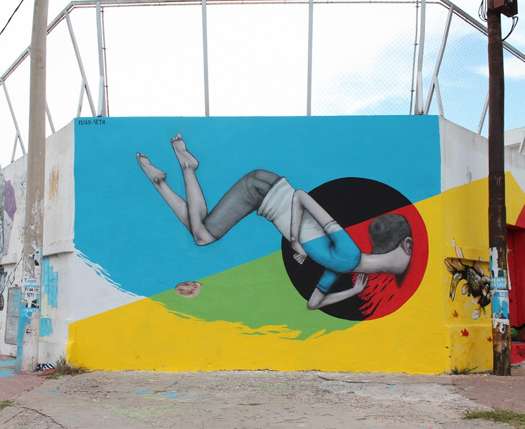 Street Art Collaboration by Elian and Seth on the streets of Cordoba in Argentina.