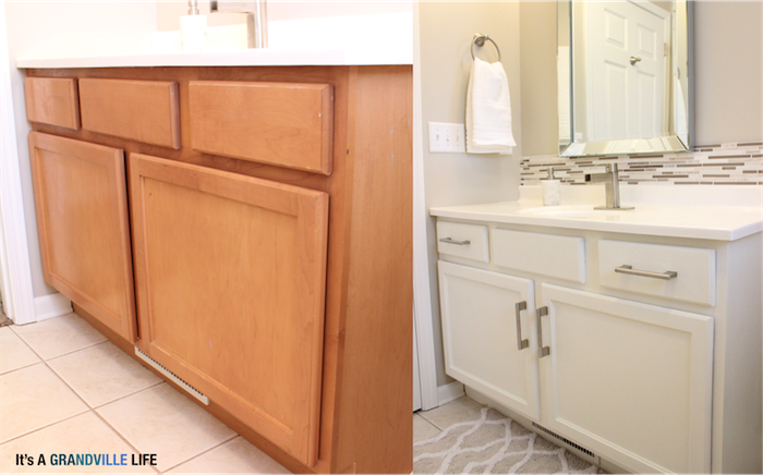 Diy Painted Bathroom Cabinets, How To Paint Bathroom Cabinets