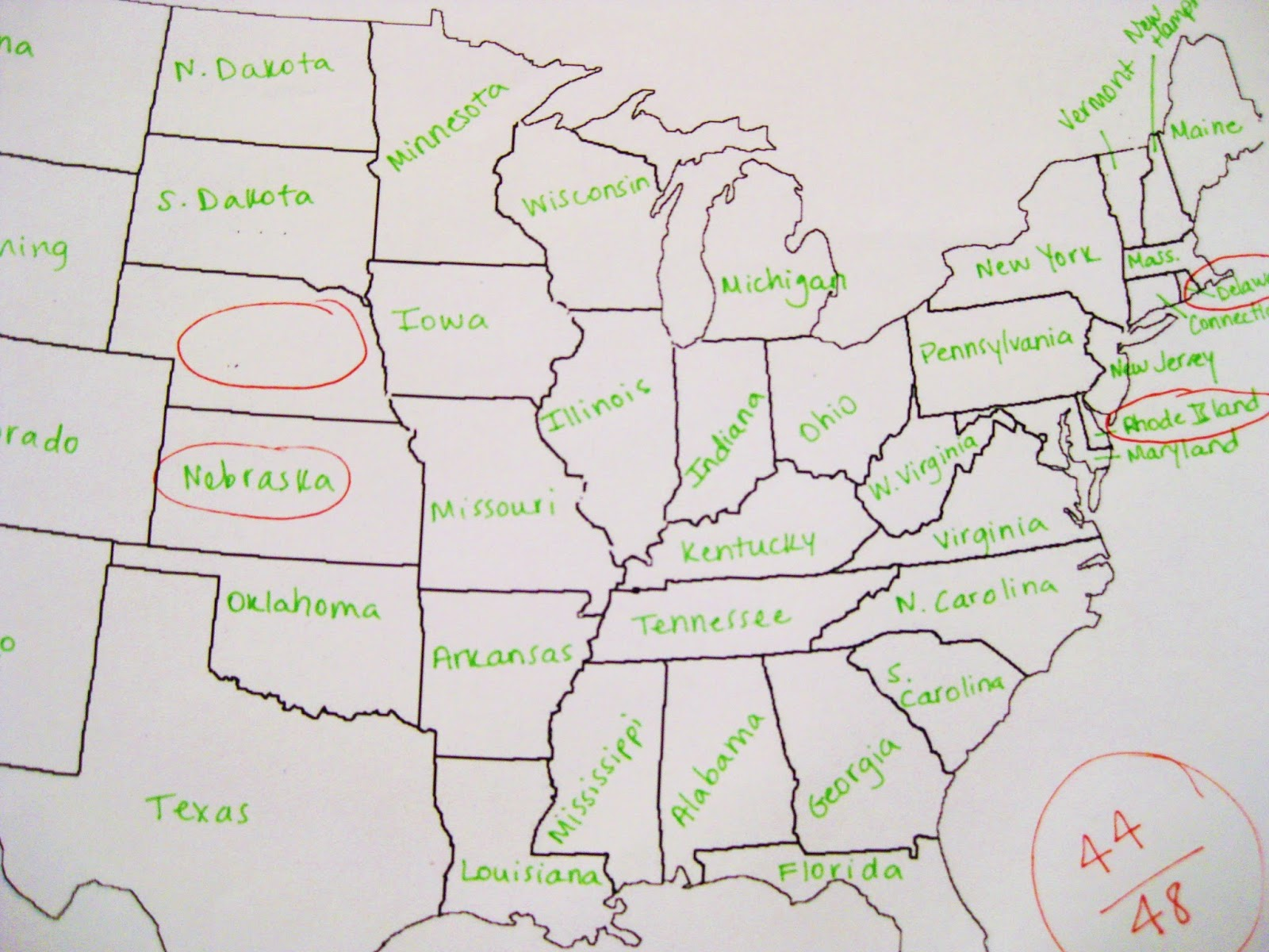When A German Tries To Fill Out A Map Of The USA Welcome To - Us map with florida highlighted