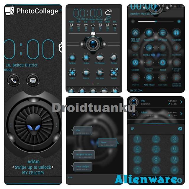 Theme AlienWare Asus Zenfone 2 550ML Terbaru