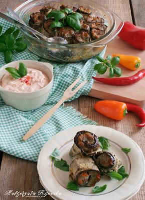bakłażan na obiad, mielone, roladki mięsne, daylicooking