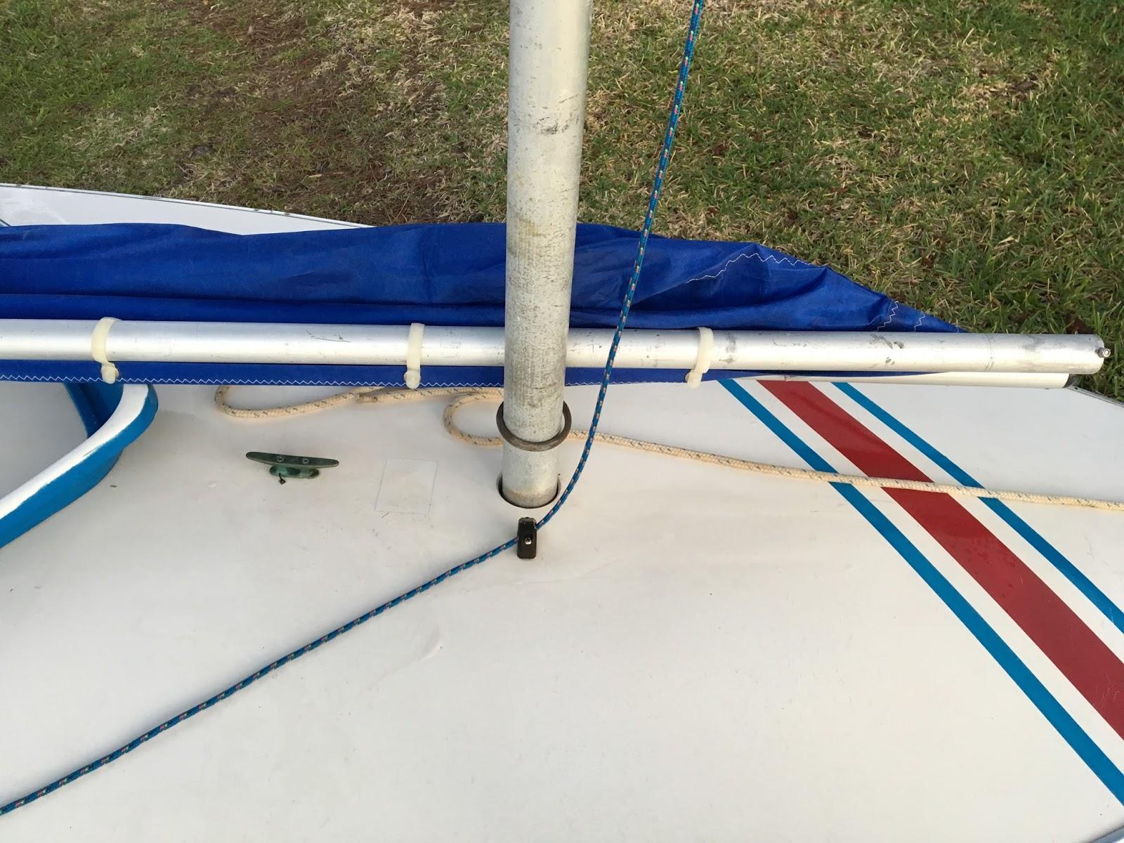 Small Boat Restoration: Sunfish Sailboat Sail Rigging