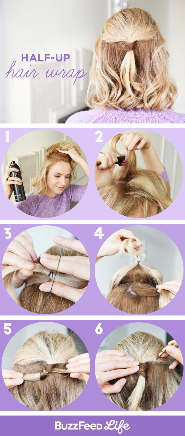 Half-up Hair Wrap