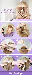 Half-up Hair Wrap