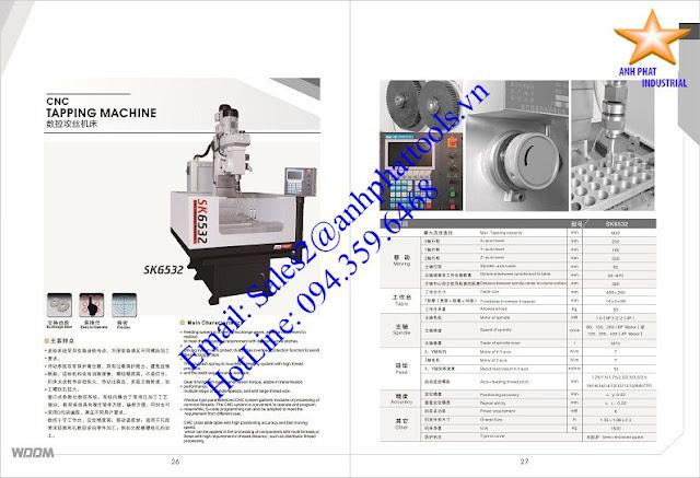 Máy Taro CNC Cao Cấp Thương Hiệu WDDM 6kw