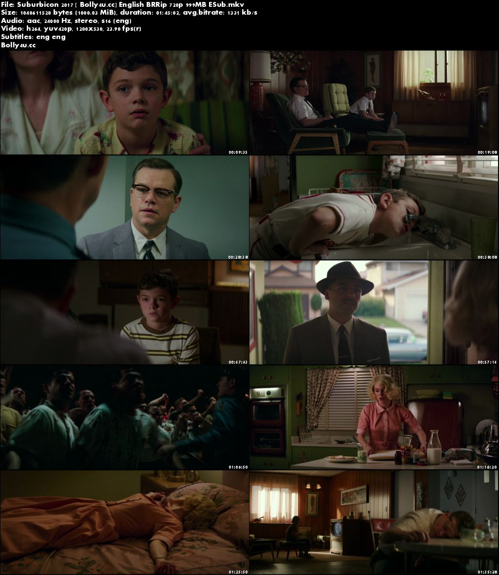 Suburbicon 2017 BRRip 300MB English 480p ESub Download