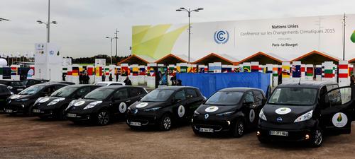 Elétricos da Renault-Nissan percorrem 175 mil km na COP21 com emissões zero