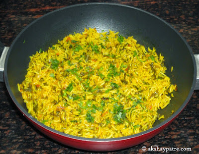 palak pulao is ready to serve now.
