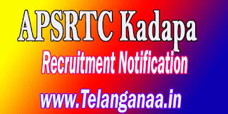 APSRTC Kadapa Driver Recruitment Notification 2016