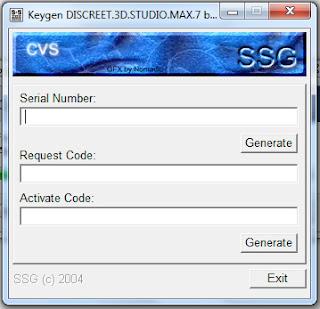 Dapatkan Serial Number 3D Studio MAX 7.0