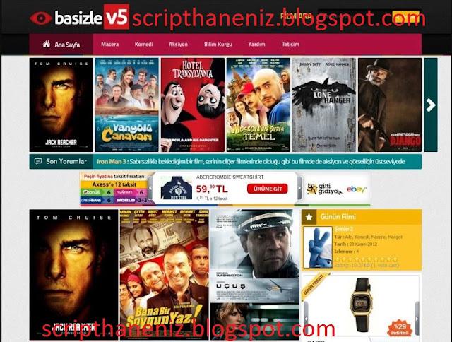 Wordpress Basizle_v5 Film Teması İndir (Botlu) 2017