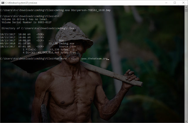 How to make 'Images as Background' in CMD | CmdBkg - InsertBMP v2.0 | By Misol101