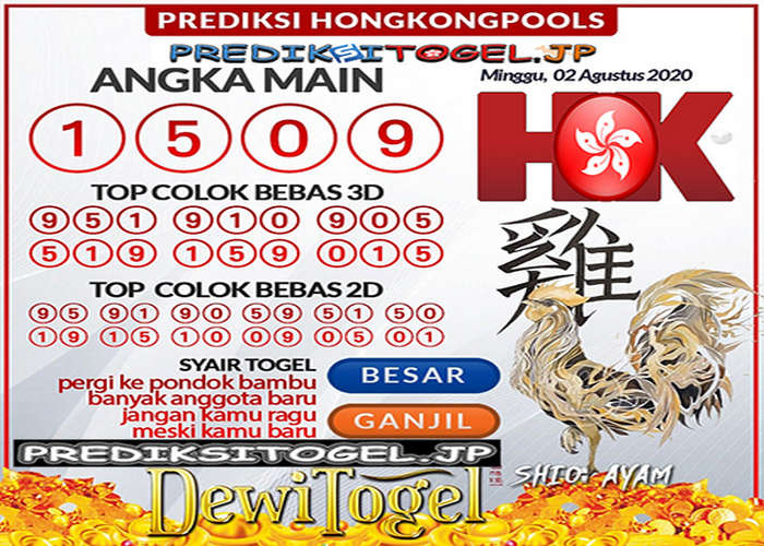 Kode syair Hongkong Minggu 2 Agustus 2020 298