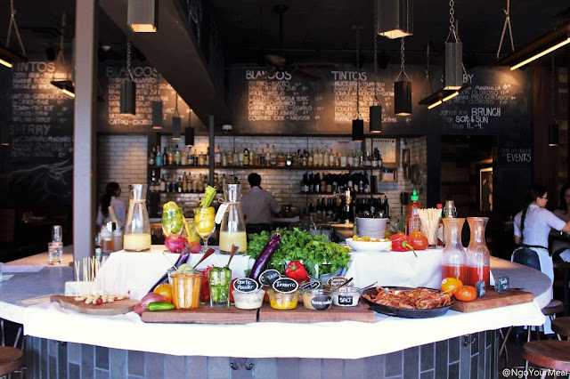 Make Your Own Bloody Mary Bar at Barcelona Wine Bar in Boston