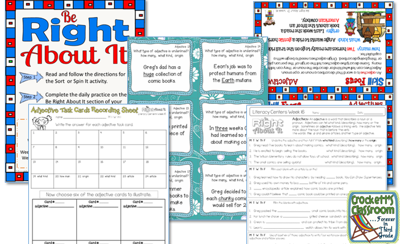 Fifth Grade Literacy Centers Free Sample