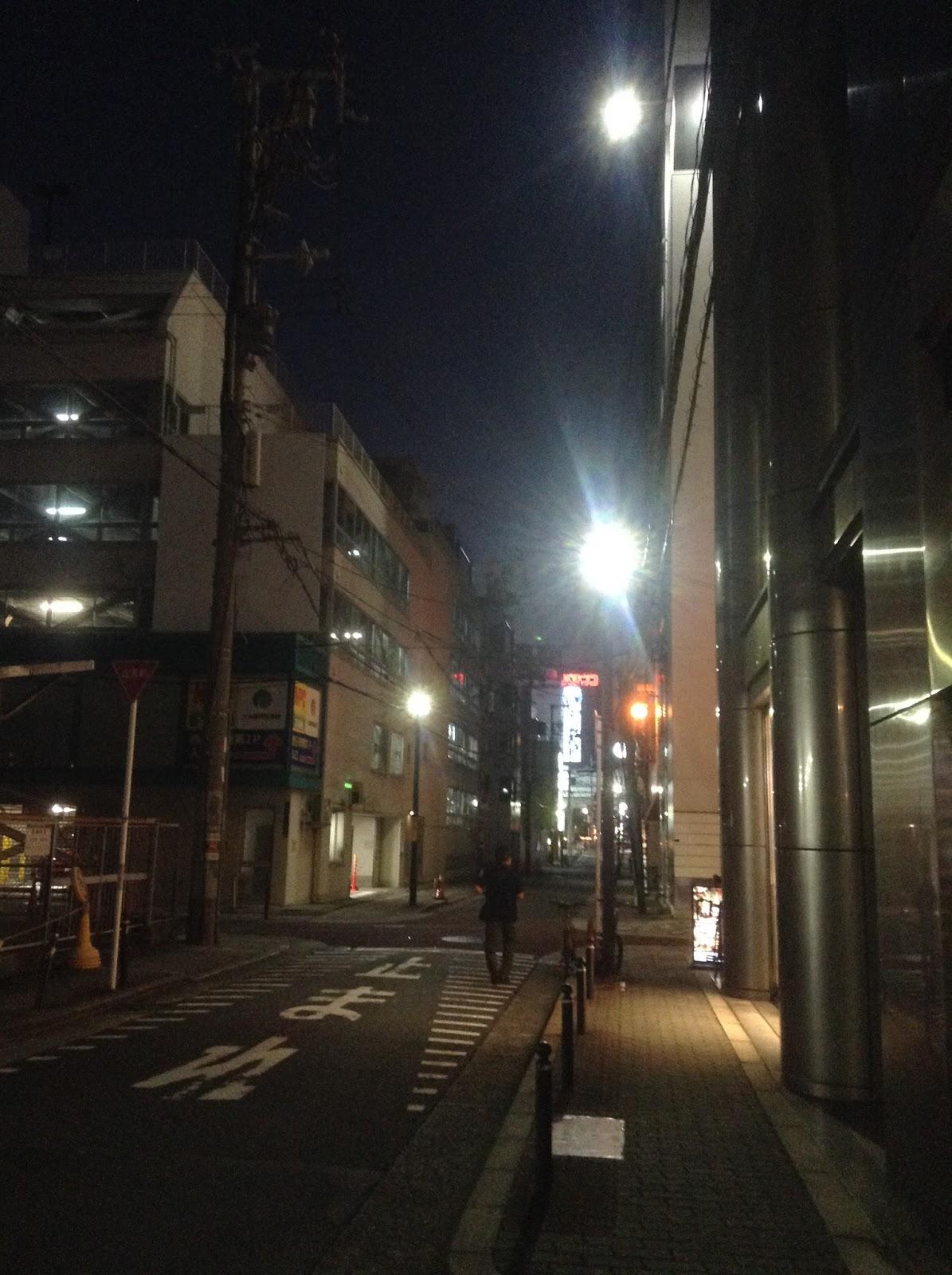 Japanese street at night