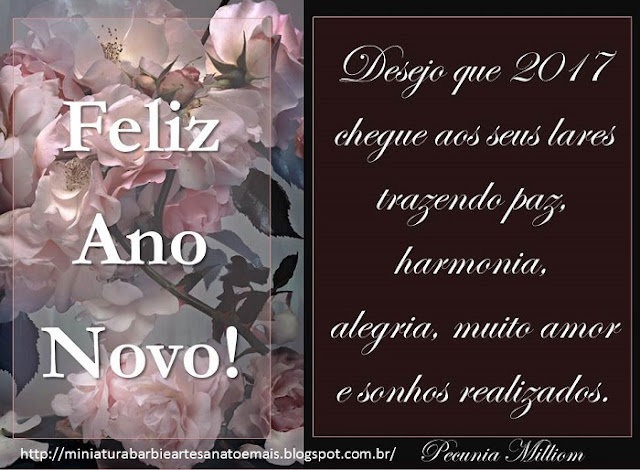 Feliz 2017 a Todos do Blog Miniatura Barbie Artesanato e Mais! 1