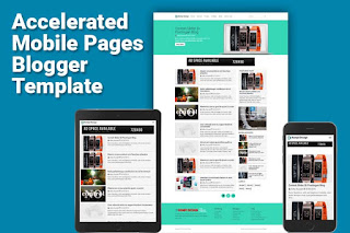 blogger template amp mobile acelerate page